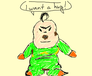 disgusting ugly baby wants a hug