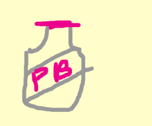 An empty jar of Pepto Bismol