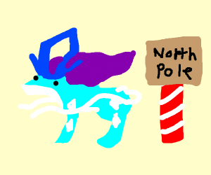 Suicune in the north pole