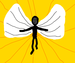 Stickman with wings