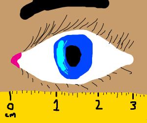Eye wide open