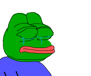 Pepe the frog has a existential crisis