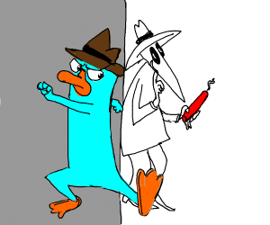 Spy infiltrating platypus society