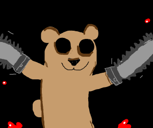 Bear with Chainsaw hands
