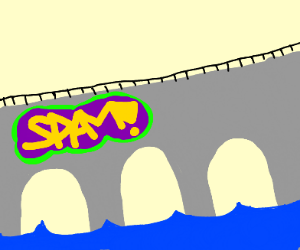 bridge with spam on it