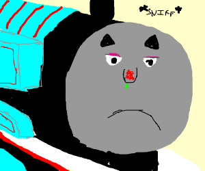 thomas the tank engine is very sick