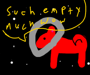 red doggo in space