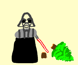 Darth Vader does NOT like the tree