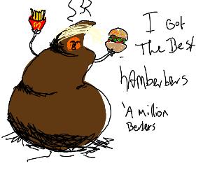 Trump serves McDonald's