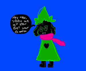 Ralsei playing All Star