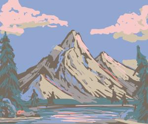 Bob-ross style Mountainscape