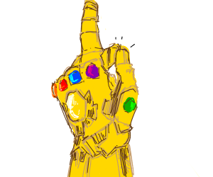 Thanos snapped his fingers.