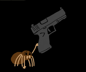 Brown Spider with Glock