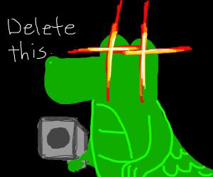 alligator with a gun threatening you