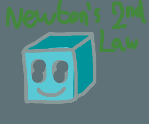 Newton's second law with smiling block