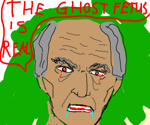 creepy old man talks about a ghost fetus