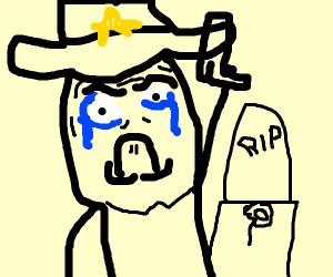 a sad cowboy