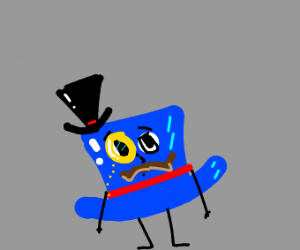 Sophisticated top hat wears a top hat