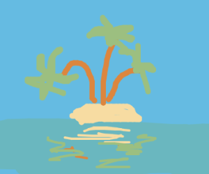 Small tropical island