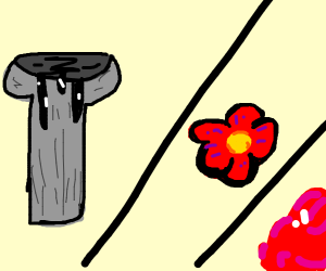 OilGoingDownTheGutter/flower/blood(?)