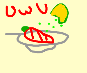 Bell pepper on a plate