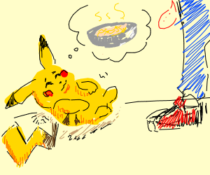Pikachu wants soup