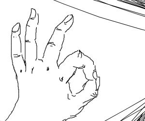 the ok hand