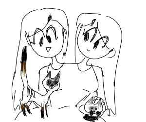 Siamese cats. Siamese twins