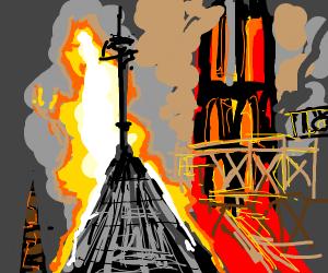 Notre Dame burns :(
