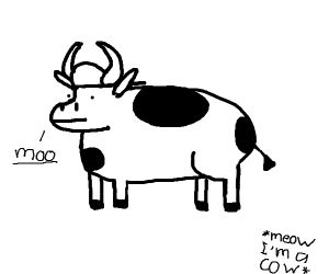 cow saying moo