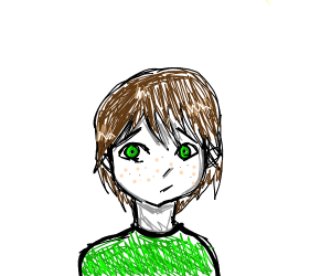 generic brown-haired guy with green top