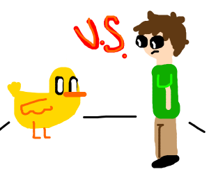 duck vs. man