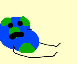 Planet giving birth to a baby boy planet