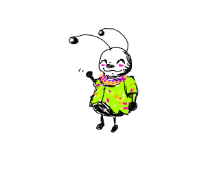 Bug wearing clothes