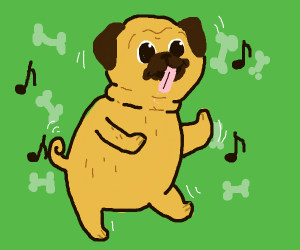 Happy dancing dog