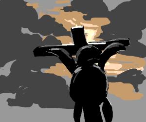 Turtle jesus cross