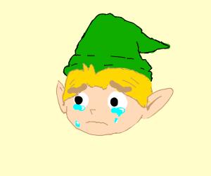 link is sad