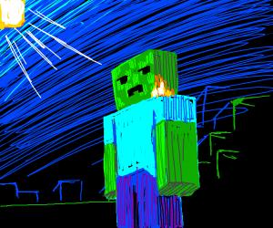minecraft zombie goes 'bruh'