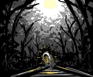 A Lightbulb crossing the Tracks