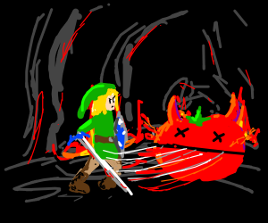 Link killing tomato in hell
