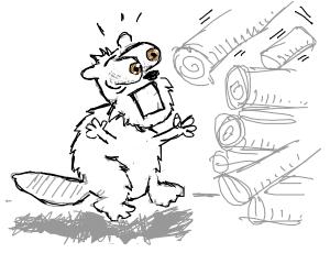 beaver fears the logs