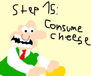 Step 14:Eat cheese(continued from prev. game)