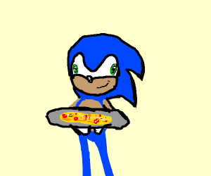Sonic making pizza