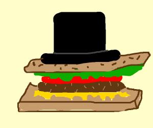 linkon's hat on a samich