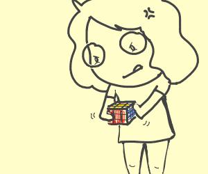 Step 1: solve a rubiks cube