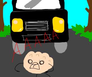 A Dumpling crossing the Highway