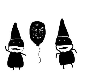 Two odd black gnomes