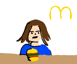 Girl eats at McDonalds