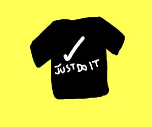just do it black shirt