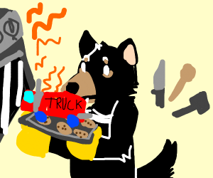 Tasmanian Devil baking a Truck